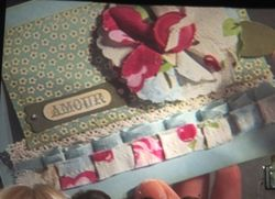 Swaps - fabric flower card
