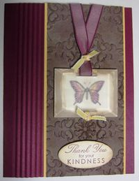 Frosted windowpane card