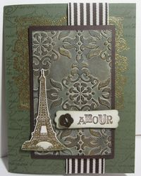 Artistic etchings patina card v
