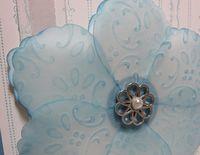 Bab marina embossed vellum flower closeup