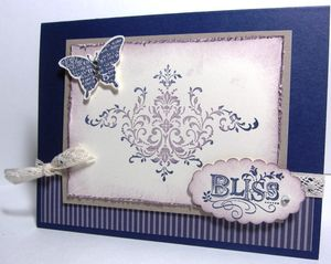 Concord Bliss card - rhinestones