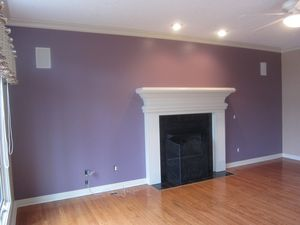 Perfect plum living room