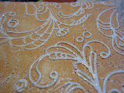 Inked impressions - orange glitter