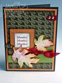 Autumn leaves - inked impressions baby wipe leaves