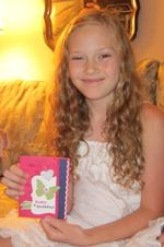 Sammi with card