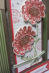 Field flowers panel birthday closeup