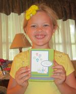 Ellie with card 2011