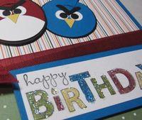 Angry birds card closeup