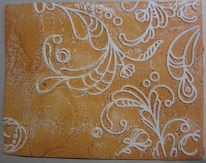 Inked impressions - orange embossed