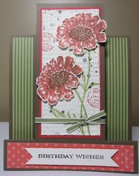 Field flowers panel birthday