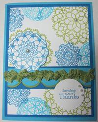 Delicate doilies blue 1