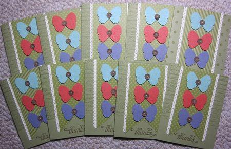 In color butterflies set