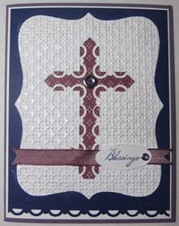 Scallop punched cross - full