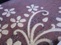 Inked impressions glitter flowers close