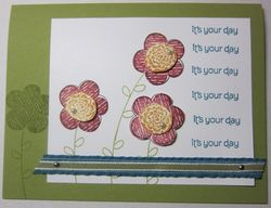 Three flowers card