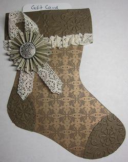 Suede mocha stocking gc