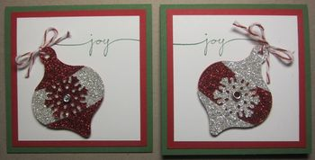 Glimmer ornament tags