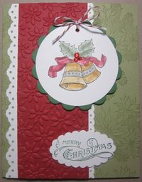 Bells & boughs scallop circle tags card 2
