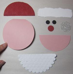 Santa gift card holder - parts