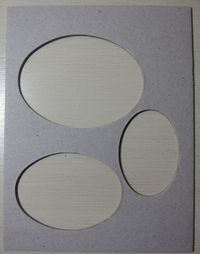 Double embossing - ovals