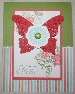 Sab embossed butterfly dots