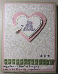 Packed bear heart glitter