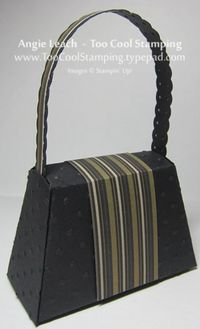 Purse - black stripe flower back