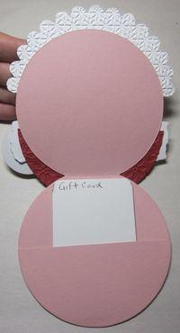 Santa gift card holder - open