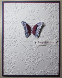 Double embossing - concord butterfly