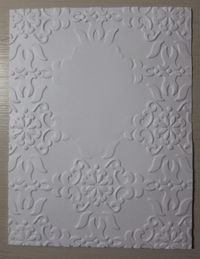 Double embossing - blank oval center