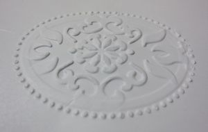 Double embossing - reverse 3
