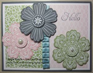 Mixed bunch white emboss h