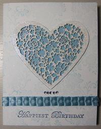 1 DC - blue glitter heart