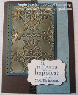 Faux Patina happiest thoughts