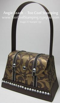 Purse - gold rhinestone