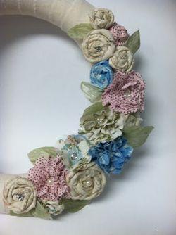 Fabric wreath - erika clark
