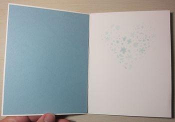 DC - blue glitter heart 3