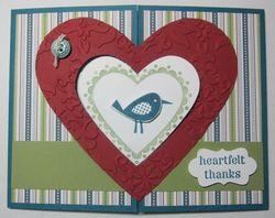Heart gate fold - bird