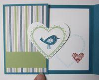Heart gate fold - bird 4