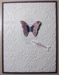 Double embossing - razzle butterfly