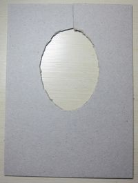 Double embossing - oval cut out