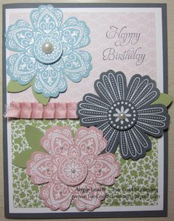 Mixed bunch pastel embossing test