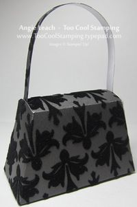 Purse - black velvet back