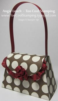 Purse - red ruffle