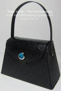 Purse - black patent leather
