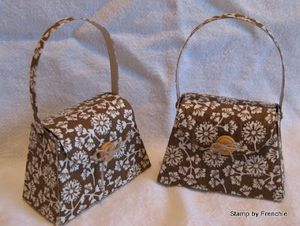 Fabric purse - frenchie stamps