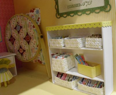 6 dollhouse - sewing baskets fabric