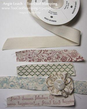 Naturals butterflies - cotton ribbon samples