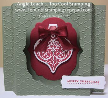 Shadow box card - artichoke standing