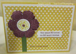 Polka dot - flower card